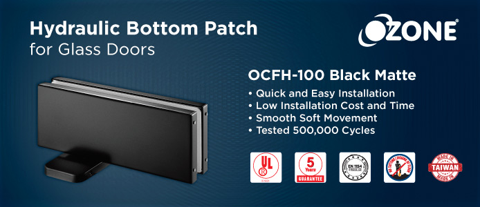Hydraulic Bottom Patch for Glass Door