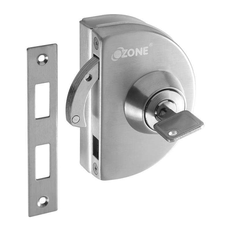 Glass Door Lock With Strike Plate Opl 4a N S