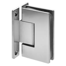 Wall to Glass Hinge 90° (with H-Plate)
