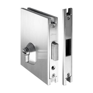 Glass Door Lock With Dead Bolt Strike Plateosspl Dl 111