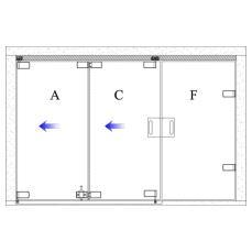 Two Panel Sliding One Side Plus 1 Door