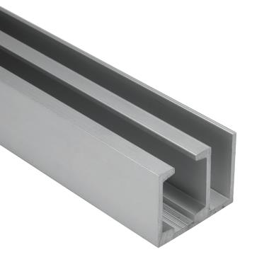 Aluminium Anodized Track Door & Fixed Glass