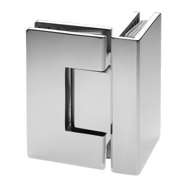 Glass to Glass Hinge 90°
